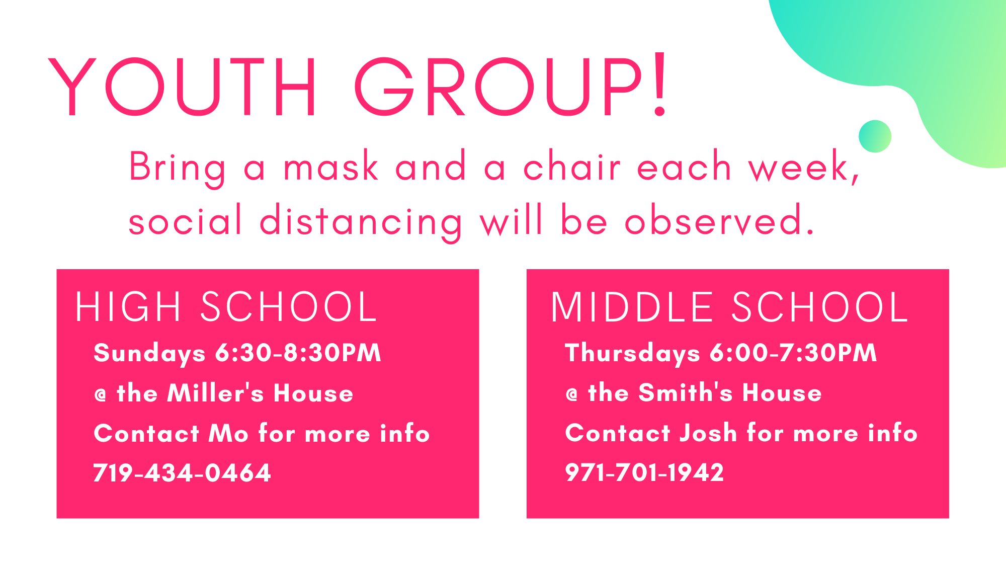 Youth Group Update